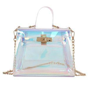💖 BRAND NEW PVC Iridescent Crossbody Bag 💖